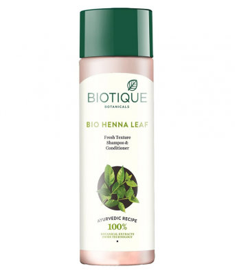 Шампунь-кондиционер Биотик Био Хна (Biotique Bio Henna Leaf Fresh Texture Cleanser Shampoo&Conditioner), 190мл