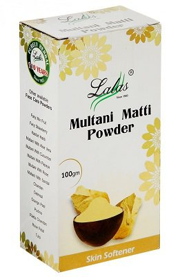 Купить Маска-убтан (глина) для лица Multani Matti Powder, Lalas, 100 гр