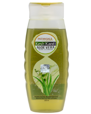 Шампунь патанжали Patanjali kesh kanti aloevera hair cleanser 200ml